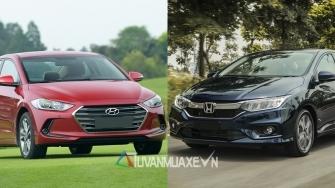 So sanh xe Hyundai Elantra va Honda City 2017