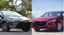 So sanh xe Mazda 3 va Toyota Altis 2018