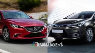 So sanh xe Mazda 6 va Toyota Altis 2018