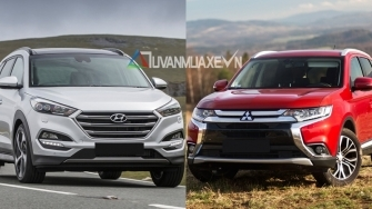 So sanh xe Mitsubishi Outlander va Hyundai Tucson 2018