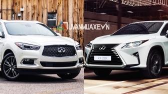 So sanh xe Lexus RX350 va Infiniti QX60 2017 tai Viet Nam