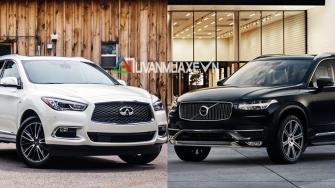 So sanh xe Infiniti QX60 va Volvo XC90 2018 tai Viet Nam