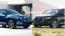 So sanh xe Audi Q7 va Infiniti QX60 2017 tai Viet Nam