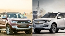 So sanh xe Ford Everest va Chevrolet Trailblazer 2018