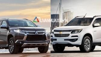 So sanh xe Mitsubishi Pajero Sport va Chevrolet Trailblazer 2018