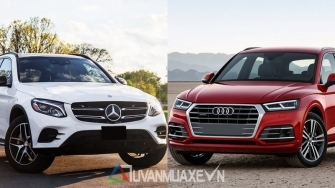 So sanh xe Mercedes GLC va Audi Q5 2018