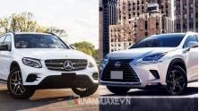 So sanh xe Mercedes GLC va Lexus NX 2018