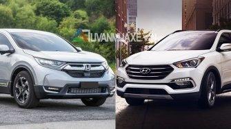 So sanh xe Hyundai SantaFe va Honda CR-V 7 cho 2018
