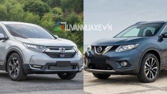 So sanh xe Nissan X-Trail va Honda CR-V 2018 ban 7 cho