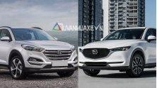 So sanh xe Hyundai Tucson 2018 va Mazda CX-5 2018 ban cao cap