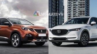 So sanh xe Mazda CX-5 2018 va Peugeot 3008 2018