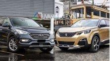 So sanh xe 7 cho Hyundai SantaFe 2018 va Peugeot 5008 2018