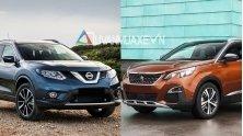 So sanh xe Nissan X-Trail 2018 va Peugeot 3008 2018