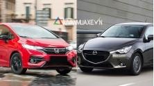 So sanh xe Mazda 2 Hatchback va Honda Jazz 2018