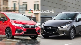 So sanh xe Mazda 2 Hatchback va Honda Jazz 2018