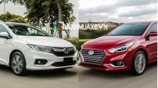 So sanh xe Honda City TOP va Hyundai Accent 2018 ban dac biet