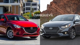 So sanh xe Mazda 2 Sedan va Hyundai Accent 2018