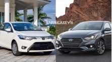 So sanh xe Toyota Vios 2018 va Hyundai Accent 2018