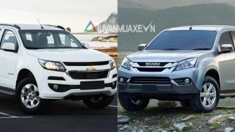 So sanh Isuzu MU-X va Chevrolet Trailblazer 2018 ban so san, xe dich vu
