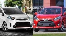 So sanh xe KIA Morning va Toyota Wigo 2018 tai Viet Nam