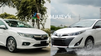 So sanh xe Honda City TOP va Toyota Vios G 2018-2019 moi