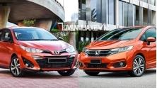 So sanh xe Honda Jazz RS va Toyota Yaris G 2018-2019 moi