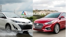 So sanh xe Hyundai Accent 1.4AT DB va Toyota Vios G 2018-2019 moi