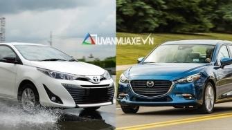 So sanh xe Mazda 3 va Toyota Vios G 2018-2019 moi