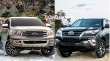 So sanh xe Toyota Fortuner va Ford Everest 2018-2019 ban cao cap