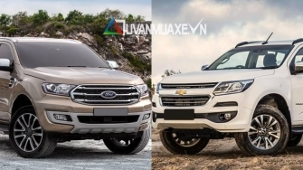 So sanh xe Chevrolet Trailblazer va Ford Everest 2018-2019 ban cao cap