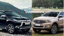 So sanh xe Mitsubishi Pajero Sport va Ford Everest 2018-2019 ban cao cap