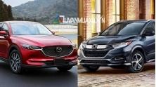 So sanh xe Mazda CX-5 2.0AT va Honda HR-V L 2018-2019 tai Viet Nam