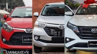 Toyota Wigo, Avanza, Rush phu hop nhu cau su dung mua xe nao?