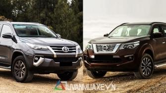 So sanh xe Toyota Fortuner va Nissan Terra 2019 tai Viet Nam