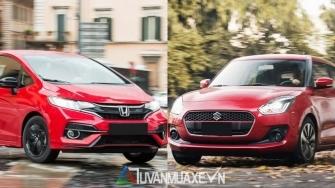 So sanh xe Honda Jazz 2019 va Suzuki Swift 2019 tai Viet Nam