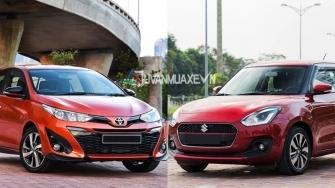 So sanh xe Toyota Yaris 2019 va Suzuki Swift 2019 tai Viet Nam