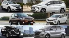 Mua xe 7 cho gia re cua Honda, Nissan, Toyota, Suzuki, KIA, Mitsubishi