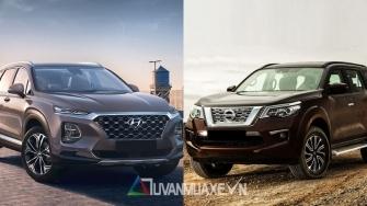 So sanh xe Hyundai SantaFe 2019 va Nissan Terra 2019 ban cao cap