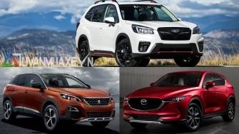 Mua xe SUV gam cao 5 cho hon 1 ty - chon CX5, Forester hay Peugeot 3008