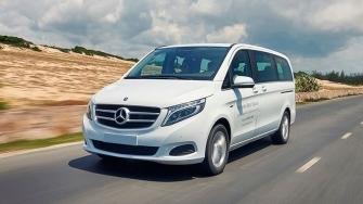 Chi tiet xe 7 cho Mercedes V-Class may xang tai Viet Nam