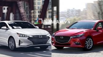 So sanh xe Hyundai Elantra 2019 va Mazda 3 2019