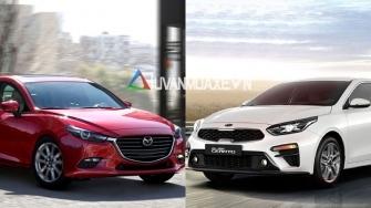 So sanh xe KIA Cerato 2019 va Mazda 3 2019