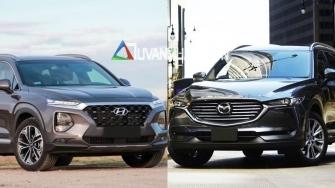 So sanh xe Hyundai SantaFe 2019 va Mazda CX-8 2019 ban cao cap Premium