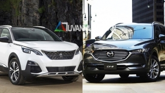 So sanh xe Peugeot 5008 va Mazda CX-8 2019 tai Viet Nam