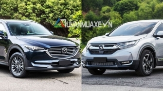 So sanh xe Mazda CX-8 2019 va Honda CR-V 2019 ban du tai Viet Nam