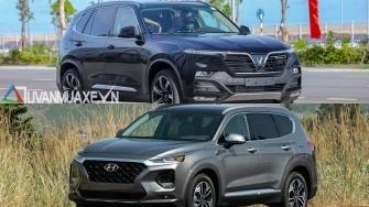So sanh xe VinFast LUX SA2.0 va Hyundai SantaFe 2019