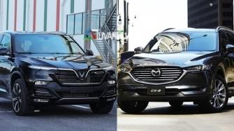 So sanh xe VinFast LUX SA2.0 va Mazda CX-8 2019 o tam gia 1,4 ty dong