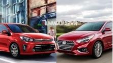 So sanh xe KIA Soluto 2019 va Hyundai Accent 2019