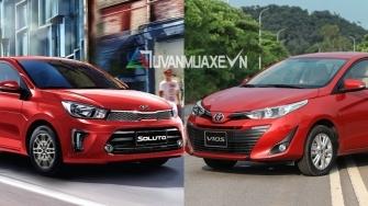So sanh xe KIA Soluto 2019 va Toyota Vios 2019