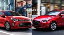 So sanh xe KIA Soluto 2019 va Mazda 2 Sedan 2019